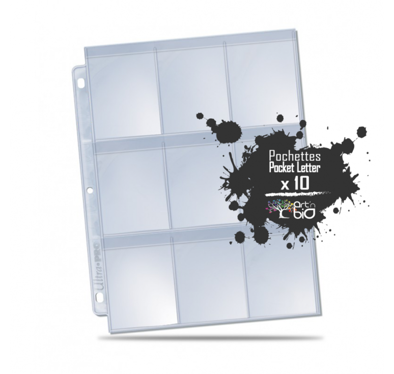 Feuilles classeur - Display 9-pocket silver x10